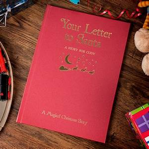 personalised hardback children39s book your letter to With your letter to santa book