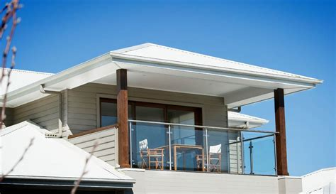 upper storey balcony  white colorbond roofing