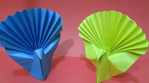 how to make origami peacock ( akira yoshizawa ) - YouTube | 266x474