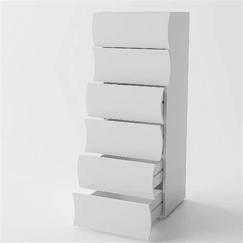 Cassettiere Moderne Design by Cassettiera Grande Goccia 66 Mobile Bianco Con 6 Cassetti