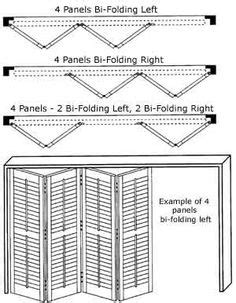 Bi-fold plantation shutters - can be installed with or