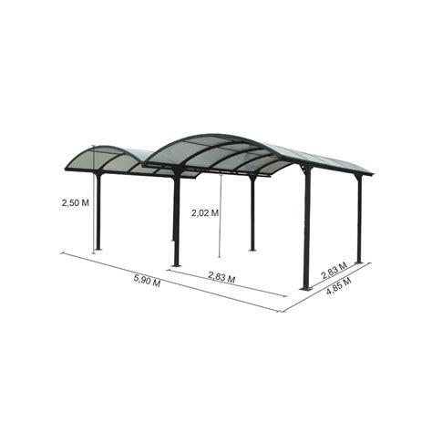 tettoia alluminio tettoia in alluminio e policarbonato 485x600x250 h