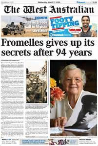 News The Of Sydney by Newspaper The West Australian Australia Newspapers In