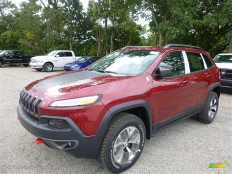 jeep cherokee trailhawk red 2016 deep cherry red crystal pearl jeep cherokee trailhawk