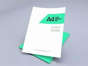 Modern Newsletter Templates Free A4 Paper Sheet Mockup Graphberry Com
