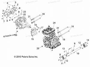 Polaris Side By Side 2012 Oem Parts Diagram For Engine  Transmission Mounting