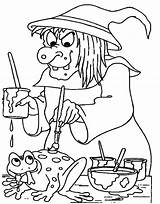 Witch Coloring Pages Scarlet Wicked Spooky Frog Witches Adults Printable Getcolorings Colorings Getdrawings sketch template