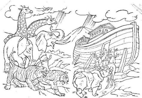 noah animals coloring pages animals entering noahs ark