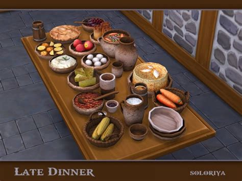 The Sims Resource Late Dinner By Soloriya Sims 4 Downloads