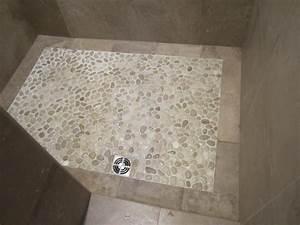 Pebble Shower Floor - Contemporary - Bathroom - chicago