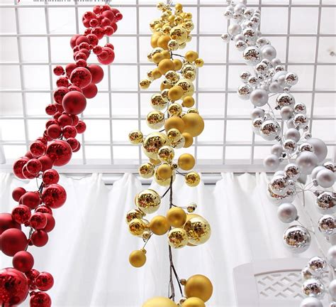 aliexpress com buy 1 8meters gold red silver ball