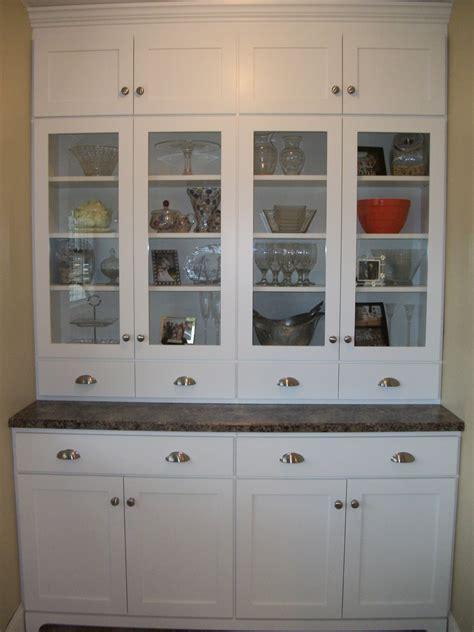 Kitchen Kitchen Hutch Cabinets  Antique Hutch With Glass