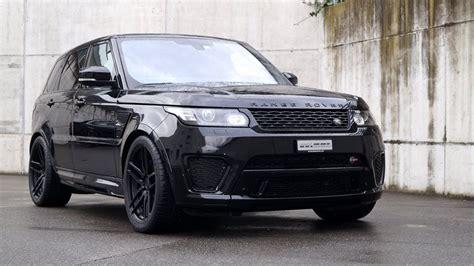 schwarzer range rover sport svr auf adv wheels  cartech