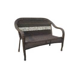 garden treasures severson wicker patio chair bench at lowes seating outdoor furniture