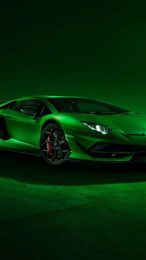 lamborghini aventador svj sports car green