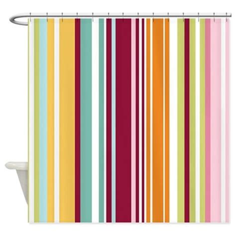 colorful shower curtains colorful stripes shower curtain by bestshowercurtains