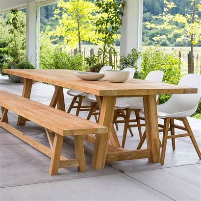Table Teak Furniture Outdoor Dining Patio Chairs