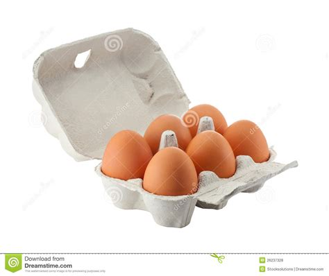 egg box isolated  clipping path stock photo image  cardboard poultry