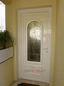 Porte D Entrée Vitrée Pvc : portes d 39 entr es en aluminium et pvc sur mesure nice ~ Dailycaller-alerts.com Idées de Décoration