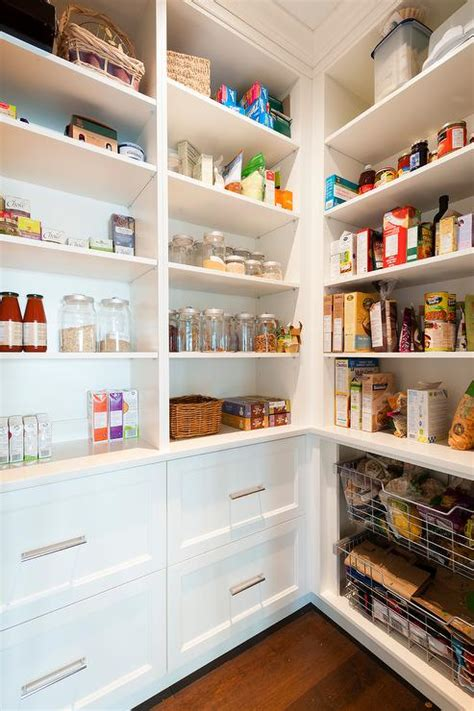 walk in pantry white walk in pantry with wire pull out bins