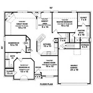 4 bedroom 2 bath floor plans 1725 square 4 bedrooms 2 batrooms 2 parking space on 1 levels house plan 50 all