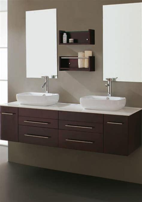 modern double sink bathroom vanity  vessel