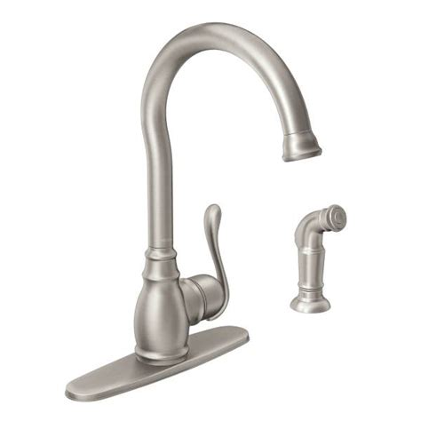Moen Anabelle Kitchen Faucet Manual by Anabelle Spot Resist Stainless One Handle High Arc Kitchen