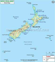 geography new zealand mountains lakes and rivers map