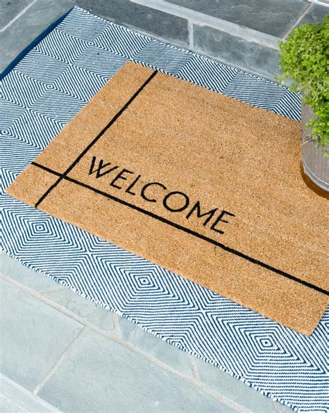 Contemporary Doormat by Modern Welcome Doormat Mcgee Co