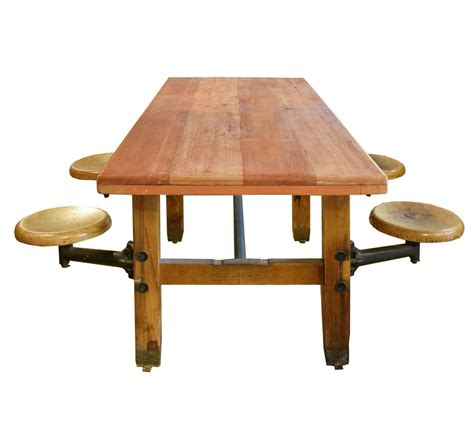 table with swing arm seats at 1stdibs