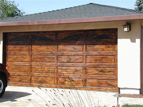 wood garage door faux wood garage doors for all styles home ideas collection