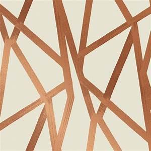Bronze Metallic Geometric Removable Wallpaper Kathy Kuo Home