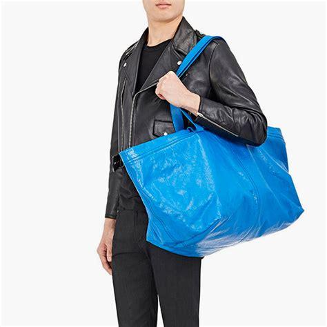 ikea tote bags balenciaga reveals 2 145 version of ikea 39 s blue