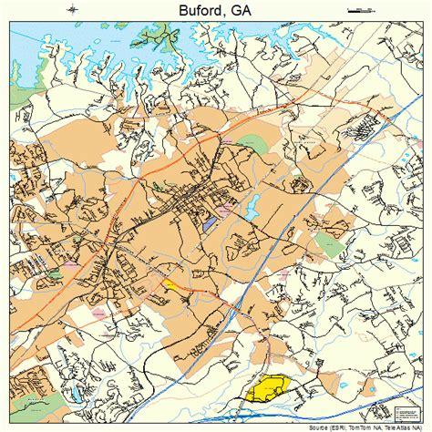 buford ga buford georgia street map 1311784