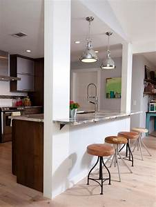 13, Affordable, Half, Wall, In, Kitchen, For, Breakfast, Bar, Idea