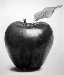 This pencil drawing of an apple shows form. It shows form ...