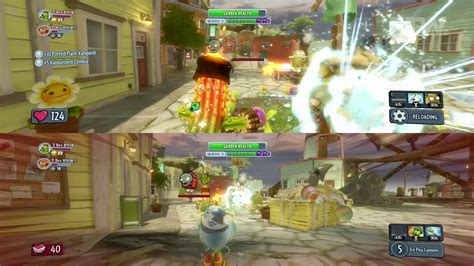 zombies warfare plants garden vs xbox gameplay split screen mode boss