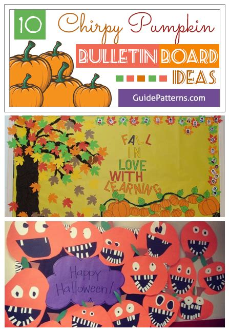 chirpy pumpkin bulletin board ideas guide patterns