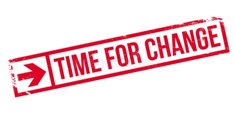 Hora Para El Sello Del Cambio Ilustración del Vector