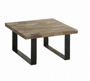 Table Basse Industrielle Carrée : table basse 120x120 ~ Teatrodelosmanantiales.com Idées de Décoration