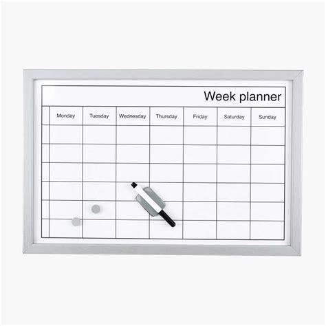 large weekly planning board biltemase
