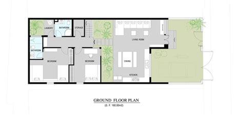 urban vietnamese house garden kitchen dining  living space   room