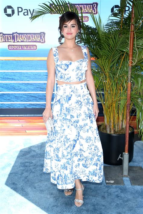Selena Gomez's Crop Top and Skirt Hotel Transylvania 3 ...