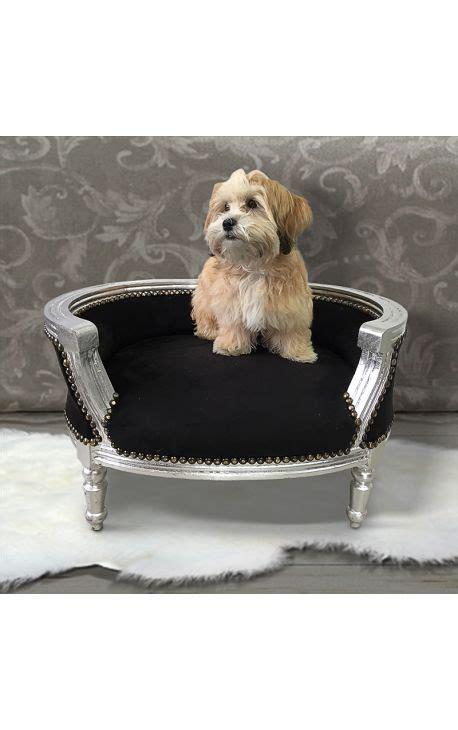canap lit pour chien canapé lit baroque pour chien ou velours noir et bois