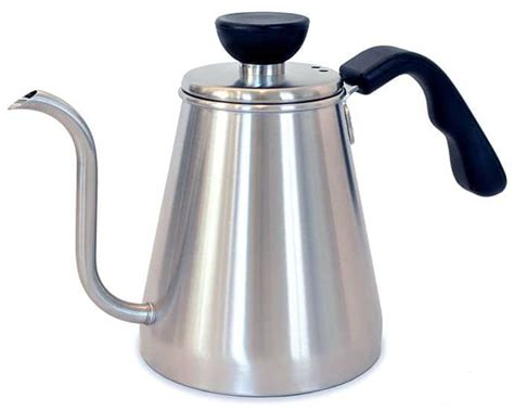kettle pour coffee slow dance drip gooseneck pouring handle spout stainless steel rj3 kettles cup tea ergonomic precision predictable convenient