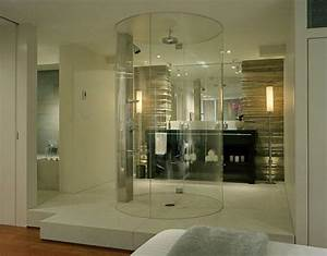 10 beautiful walk in shower design ideas https for Bathroom in middle of house