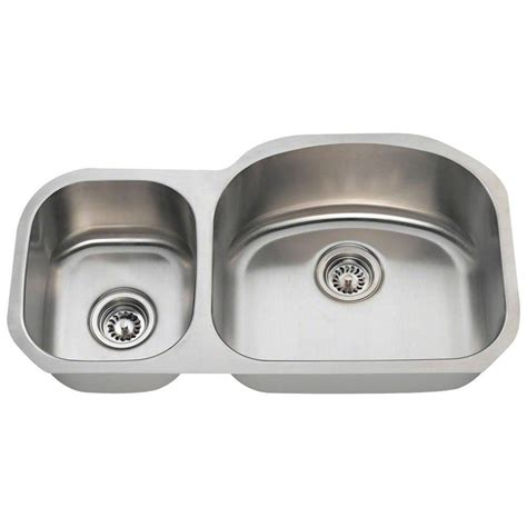 home depot stainless steel kitchen sinks polaris sinks undermount stainless steel 32 in 8414