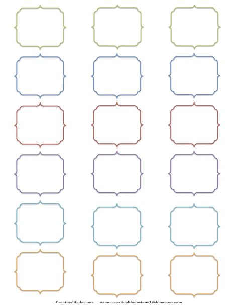 free printable label templates creative designs free printables