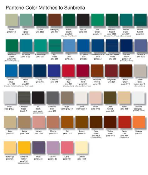 sunbrella colors sunbrella color chart