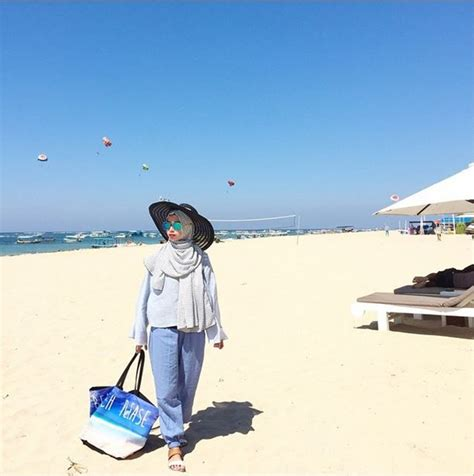 tips fashion hijab  nyaman  liburan tokopedia